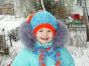 Зимняя шапочка  с завитушками, для девочки. | Ярмарка Мастеров - ручная работа, handmade