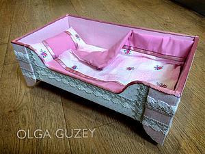 Проще простого: кроватка-качалка для куклы своими руками. Ярмарка Мастеров - ручная работа, handmade.