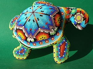 Магия цвета в мозаике из бисера Huichol Art. | Ярмарка Мастеров - ручная работа, handmade