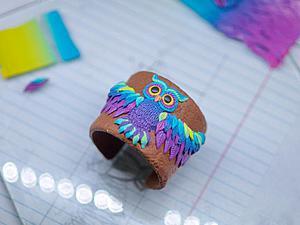 Декорируем браслет очаровательной совой из полимерной глины | Ярмарка Мастеров - ручная работа, handmade