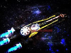 Космический корабль из подручных средств | Ярмарка Мастеров - ручная работа, handmade