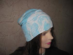 Делаем шапочку с оригинальным выбеленным узором. Ярмарка Мастеров - ручная работа, handmade.