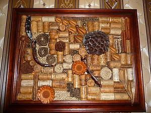 Подарок мужчине. Панно из пробок и сухоцветов. | Ярмарка Мастеров - ручная работа, handmade