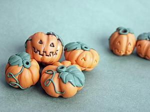 Лепим тыквы из полимерной глины | Ярмарка Мастеров - ручная работа, handmade