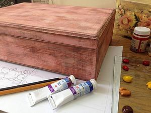 Создаем «подстаренный» фон шкатулки. Ярмарка Мастеров - ручная работа, handmade.