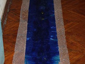 Валяем шарф «Млечный путь». Ярмарка Мастеров - ручная работа, handmade.