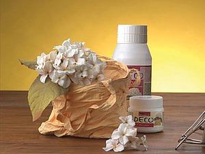 Делаем оригинальную вазу из хлопчатобумажной сумочки