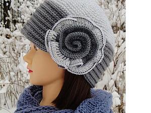 Вязаная шляпа на аукцион | Ярмарка Мастеров - ручная работа, handmade