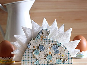 Делаем салфетницу «Пасхальный кролик» в технике тканевый картонаж. Ярмарка Мастеров - ручная работа, handmade.