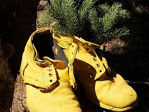 Желтые ботинки   Ярмарка Мастеров - ручная работа, handmade