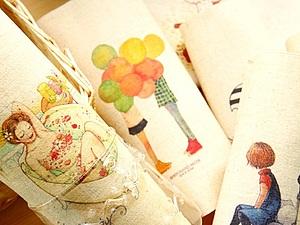 Большое поступление льняных купонов с акварельными рисунками!!! | Ярмарка Мастеров - ручная работа, handmade