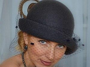 Мастер-шоу Ирины Спасской. Шляпка с однослойными полями. | Ярмарка Мастеров - ручная работа, handmade