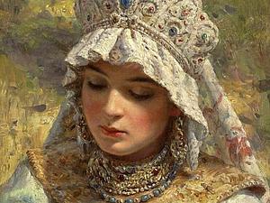 Чудесные украшения русских красавиц | Ярмарка Мастеров - ручная работа, handmade