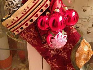Большой новогодний сапожок | Ярмарка Мастеров - ручная работа, handmade