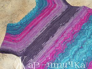 Вязание горловины укороченными рядами(спицы). Ярмарка Мастеров - ручная работа, handmade.