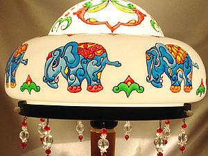 Настольная лампа в Индийском стиле. Ярмарка Мастеров - ручная работа, handmade.
