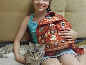 Кошачий рюкзачок. Встреча с хозяйкой. | Ярмарка Мастеров - ручная работа, handmade