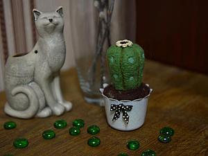 Валяем кактус из шерсти. Ярмарка Мастеров - ручная работа, handmade.