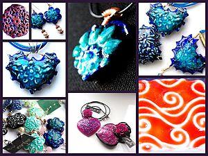 Мастер-класс:имитация эмали и керамики из полимерной глины. | Ярмарка Мастеров - ручная работа, handmade