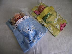 Изготовление постельки для куклы (для девочки 2-3 лет). Ярмарка Мастеров - ручная работа, handmade.