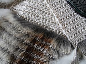 Меховой жилет с нашивкой меха лисы (полос). Часть 2. | Ярмарка Мастеров - ручная работа, handmade