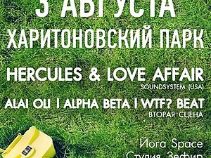 3 августа 2013 г. марка Brebend на фестивале