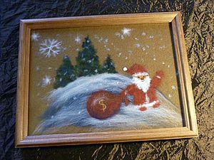 Новогодняя картина-пожелание | Ярмарка Мастеров - ручная работа, handmade