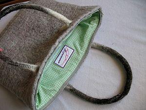 Как пришить подклад и молнию к войлочной сумке. Ярмарка Мастеров - ручная работа, handmade.