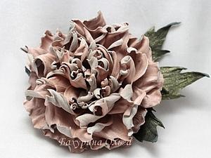 Мастер-класс Цветы из Кожи.пион Ненси | Ярмарка Мастеров - ручная работа, handmade
