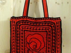 Мастер-класс: вяжем сумку в русском стиле. Ярмарка Мастеров - ручная работа, handmade.