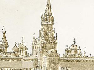 Почти детектив про виды древнего Кремля и поиски утраченных икон. Ярмарка Мастеров - ручная работа, handmade.