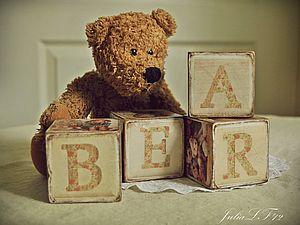 Винтажные кубики | Ярмарка Мастеров - ручная работа, handmade