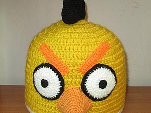 Вяжем шапочку «Птичка Чак» из игры Angry Birds. Ярмарка Мастеров - ручная работа, handmade.