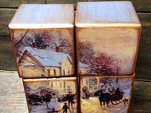 Набор интерьерных кубиков - прекрасный новогодний подарок! Новинка нашей студии!   Ярмарка Мастеров - ручная работа, handmade