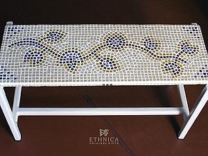 Декор столешницы мозаикой – растительный рисунок. Ярмарка Мастеров - ручная работа, handmade.