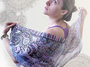 Мастер-класс: роспись шёлкового шарфа «Восточные грёзы». Ярмарка Мастеров - ручная работа, handmade.