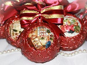 Волшебные елочные шары своими руками | Ярмарка Мастеров - ручная работа, handmade