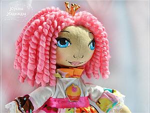 Как сделать кудри для куклы-тыквоголовки. Ярмарка Мастеров - ручная работа, handmade.