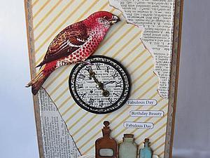 Мастер-класс: Открытка с птицей. Ярмарка Мастеров - ручная работа, handmade.