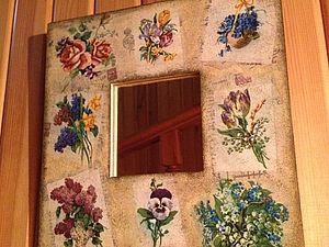 Мастер-класс по декупажу «Старое зеркало «Воспоминание весны». Ярмарка Мастеров - ручная работа, handmade.
