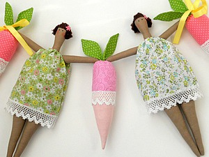 Видео мастер-класс: делаем гирлянду из кукол Тильда и редиса. Часть 1. Ярмарка Мастеров - ручная работа, handmade.