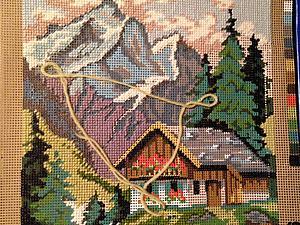 ОтдаЛА неоконченную вышивку | Ярмарка Мастеров - ручная работа, handmade