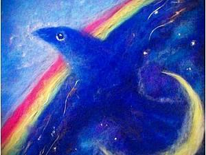МК живопись-шерстяная акварель - фантазийный сюжет | Ярмарка Мастеров - ручная работа, handmade