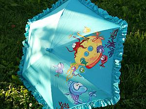 «Yellow Submarine»: роспись детского зонта. Ярмарка Мастеров - ручная работа, handmade.