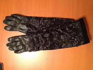 Делаем из обычных перчаток удлиненные. Ярмарка Мастеров - ручная работа, handmade.