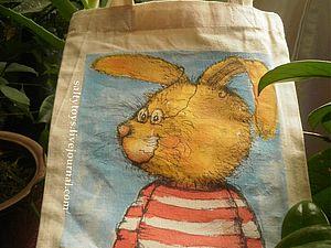 Декупаж и роспись на ткани: преображаем эко-сумки   Ярмарка Мастеров - ручная работа, handmade