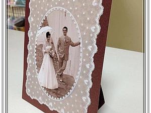 Мастер-класс: свадебная фоторамка в технике «парчмент крафт». Ярмарка Мастеров - ручная работа, handmade.