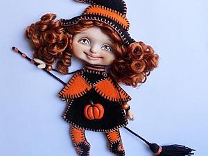 Ведьма по имени Тыковка: мастер-класс по созданию куклы-броши | Ярмарка Мастеров - ручная работа, handmade