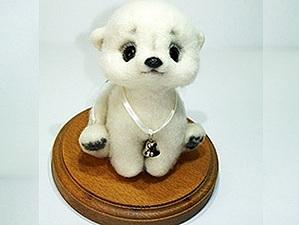 Мастер-класс по валянию белого медвежонка 5 июля | Ярмарка Мастеров - ручная работа, handmade