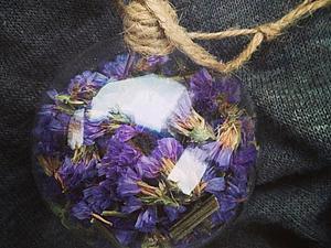 Новогодние шарики с сухоцветами | Ярмарка Мастеров - ручная работа, handmade